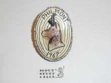 Philmont Scout Ranch Plaster Neckerchief Slide, 1967 Pronghorn Sheep