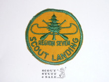 Region Seven Explorer Canoe Base, Scout Landing Patch, Smooth Twill