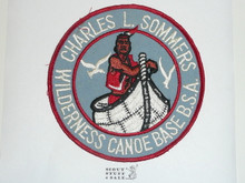 Charles L. Sommers Wilderness Canoe Base Jacket Patch, BSA Bottom, Lite use