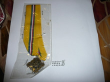 St. George Religious Award Medal, early variety with center emblems attached to pendant with screw post back pin, MINT