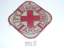 Red Cross Life Saving Service ARC Jacket Patch, used