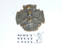 Boy Scout Watch Fob, Relief with Bugle, Bronze, No Band Attachment