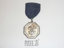 1930's Silver Boy Scout Contest Medal, Silver Plate