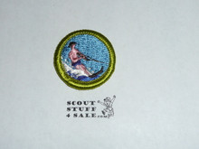 Water Skiing - Type H - Fully Embroidered Plastic Back Merit Badge (1971-2002)