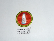 Textiles - Type H - Fully Embroidered Plastic Back Merit Badge (1972-2002)