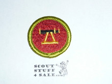 Surveying - Type H - Fully Embroidered Plastic Back Merit Badge (1972-2002)
