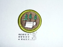 Pulp and Paper - Type H - Fully Embroidered Plastic Back Merit Badge (1971-2002)