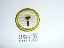 Public Health - Type H - Fully Embroidered Plastic Back Merit Badge (1971-2002)