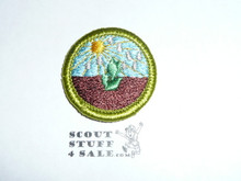 Plant Science - Type H - Fully Embroidered Plastic Back Merit Badge (1971-2002)