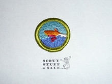 Motorboating - Type H - Fully Embroidered Plastic Back Merit Badge (1971-2002)