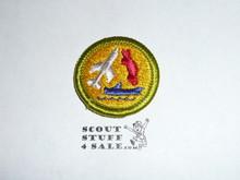 Model Design & Building - Type H - Fully Embroidered Plastic Back Merit Badge (1971-2002)