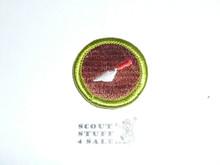 Masonry - Type H - Fully Embroidered Plastic Back Merit Badge (1971-2002)