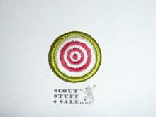 Marksmanship - Type H - Fully Embroidered Plastic Back Merit Badge (1971-2002)