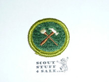 Home Repairs - Type G - Fully Embroidered Cloth Back Merit Badge (1961-1971)