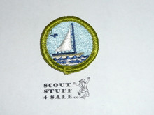 Small Boat Sailing - Type G - Fully Embroidered Cloth Back Merit Badge (1961-1971)