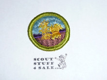 Small Grains - Type G - Fully Embroidered Cloth Back Merit Badge (1961-1971)