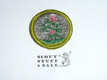 Forage Crops - Type G - Fully Embroidered Cloth Back Merit Badge (1961-1971)