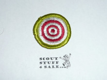 Marksmanship - Type G - Fully Embroidered Cloth Back Merit Badge (1961-1971)