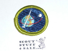 Space Exploration - Type G - Fully Embroidered Cloth Back Merit Badge (1961-1971)