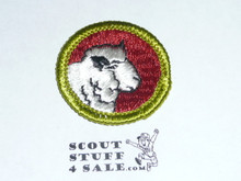 Sheep Farming - Type G - Fully Embroidered Cloth Back Merit Badge (1961-1971)