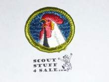 Poultry Keeping - Type G - Fully Embroidered Cloth Back Merit Badge (1961-1971)