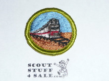 Railroading - Type G - Fully Embroidered Cloth Back Merit Badge (1961-1971)