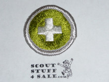 Safety (Silver bdr) - Type G - Fully Embroidered Cloth Back Merit Badge (1961-1971)