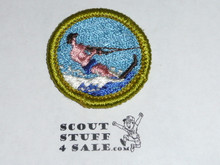 Water Skiing - Type G - Fully Embroidered Cloth Back Merit Badge (1961-1971)