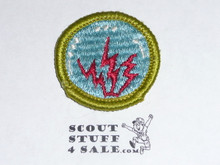 Radio - Type G - Fully Embroidered Cloth Back Merit Badge (1961-1971)