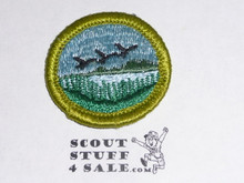 Wildlife Management - Type G - Fully Embroidered Cloth Back Merit Badge (1961-1971)