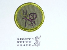 Textiles (green thread) - Type F - Rolled Edge Twill Merit Badge (1961-1968)
