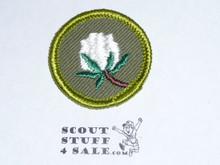 Cotton Farming - Type F - Rolled Edge Twill Merit Badge (1961-1968)