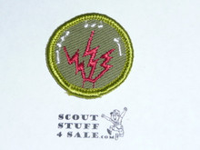 Radio - Type F - Rolled Edge Twill Merit Badge (1961-1968)