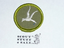 Bird Study - Type F - Rolled Edge Twill Merit Badge (1961-1968)