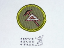 Mechanical Drawing - Type F - Rolled Edge Twill Merit Badge (1961-1968)