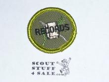 Farm Records - Type F - Rolled Edge Twill Merit Badge (1961-1968)