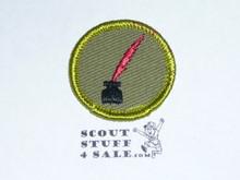 Journalism - Type F - Rolled Edge Twill Merit Badge (1961-1968)