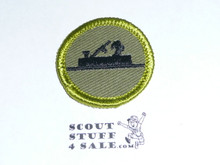 Woodwork - Type F - Rolled Edge Twill Merit Badge (1961-1968)