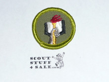 Scholarship - Type F - Rolled Edge Twill Merit Badge (1961-1968)