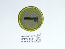 Machinery - Type F - Rolled Edge Twill Merit Badge (1961-1968)