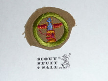 Wood Carving - Type D - Fine Twill Merit Badge (1942-1946)