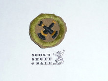 Firemanship - Type D - Fine Twill Merit Badge (1942-1946)