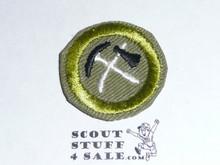 Pioneering - Type E - Khaki Crimped Merit Badge (1947-1960)