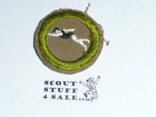 Swimming - Type C -  Tan Crimped Merit Badge (1936-1946)