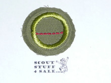 Salesmanship - Type E - Khaki Crimped Merit Badge (1947-1960)