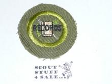 Farm Records - Type E - Khaki Crimped Merit Badge (1947-1960)