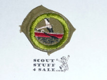 Rowing - Type C -  Tan Crimped Merit Badge (1936-1946)