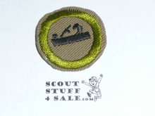 Woodwork (Plane) - Type E - Khaki Crimped Merit Badge (1947-1960)