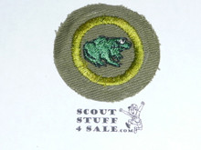 Zoology - Type E - Khaki Crimped Merit Badge (1947-1960)