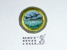 Wildlife Management - Type E - Khaki Crimped Merit Badge (1947-1960)